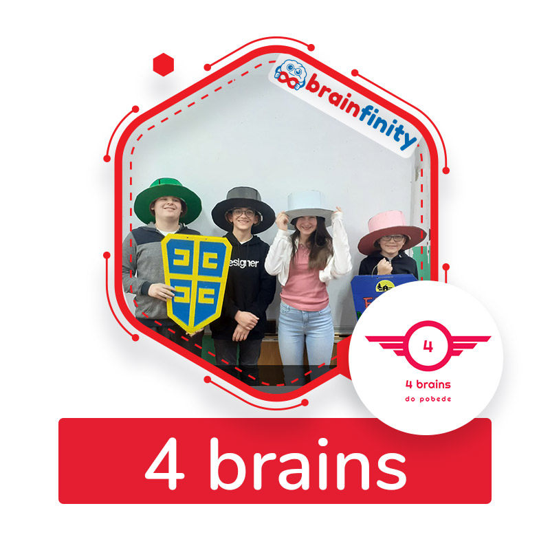 4 brains
